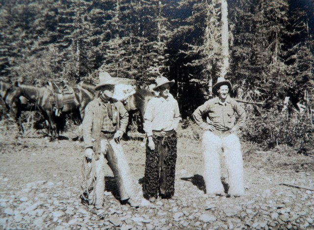 Canadian cowboys in the Rockie Mountains