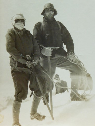 At the summit of Mt Cook during a blizzard (January 1929)
