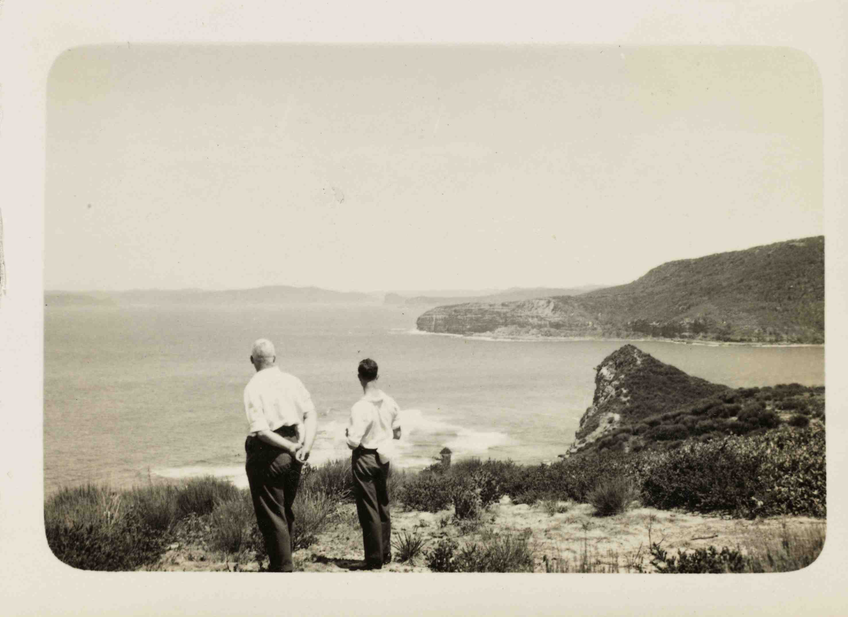 Mr Barry from Gosford City Council appreciating Bouddi's natural assets (1934)