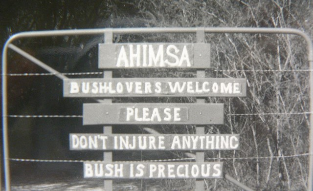 Ahimsa sign, welcoming all.