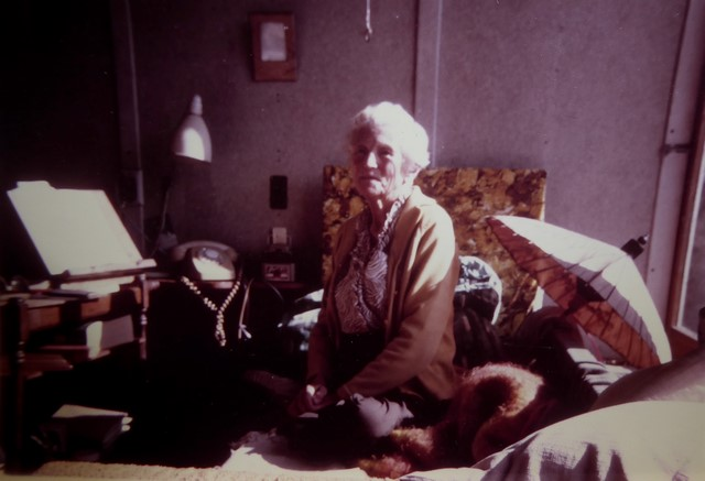 Marie lived and slept on Ahimsa's verandah.
