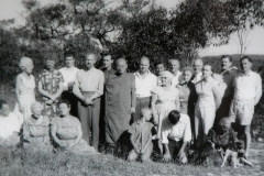 Ven. U Thittila with members of the Buddhist Society of NSW visiting the Vihara land (1956).