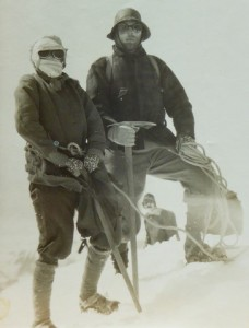 17.At the summit of Mt Cook during a blizzard (January 1929)